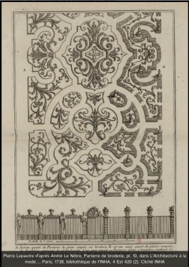 late 17th cent. French garden bedding